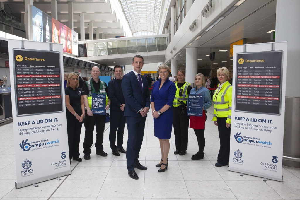 UK AVIATION MINISTER LAUNCHES GLASGOW AIRPORT'S DISRUPTIVE PASSENGER CAMPAIGN